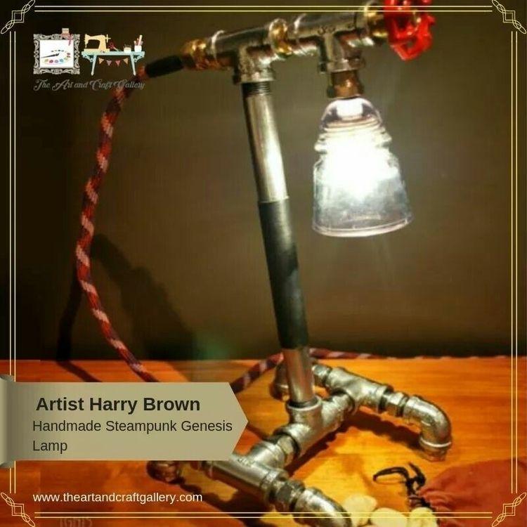 Steampunk Genesis Lamp designed - theartandcraftgallery | ello