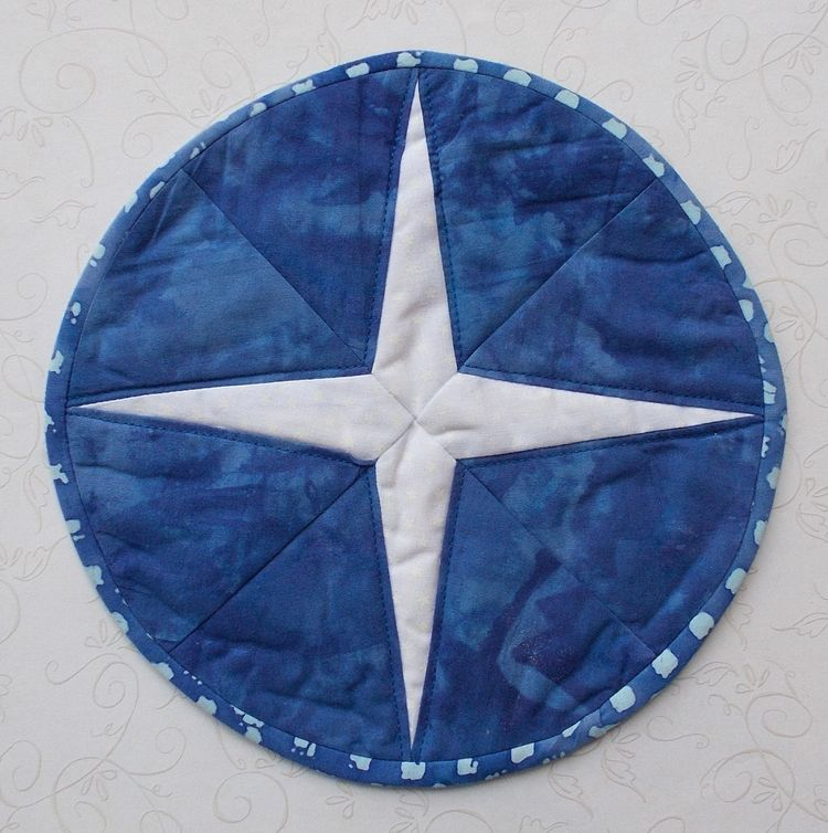 25% Hand Dyed Batik Blue White  - theresa-marchione | ello