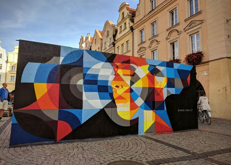 Mural painted Poland months sun - shaneomalleyart | ello