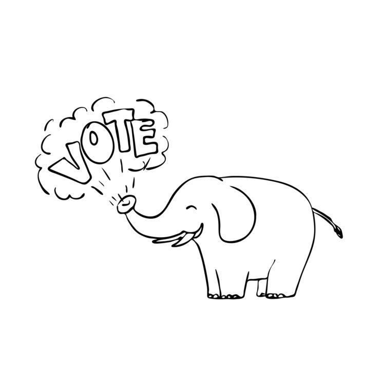 White Elephant Vote Drawing - WhiteElephant - patrimonio | ello