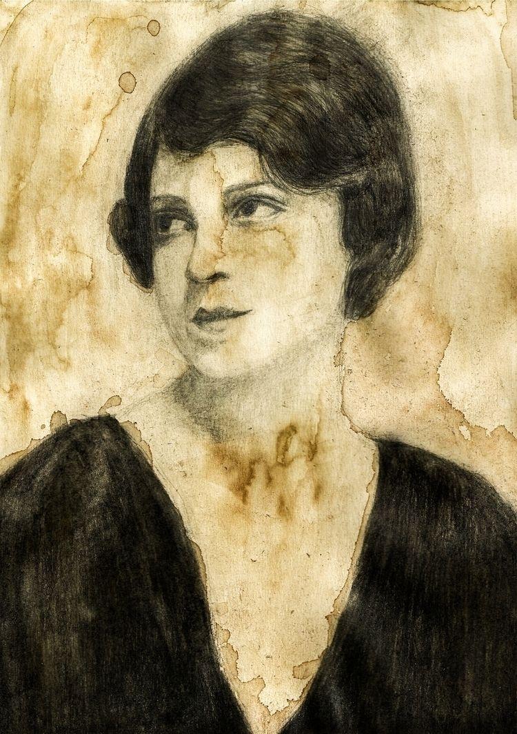 June Marlowe Coffee sketch. Pri - maksmj | ello
