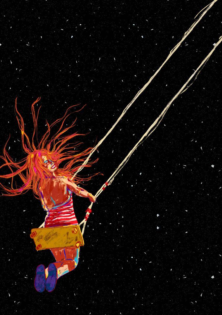 Movimiento pendular galáctico - illustration - oscar_donado | ello