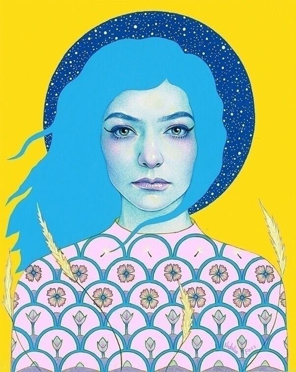Full page illustration Lorde En - nataliefoss | ello