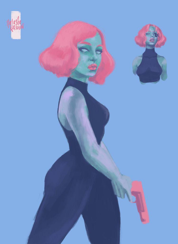 Character WIP - illustration, digitalart - artbynatasharossouw | ello