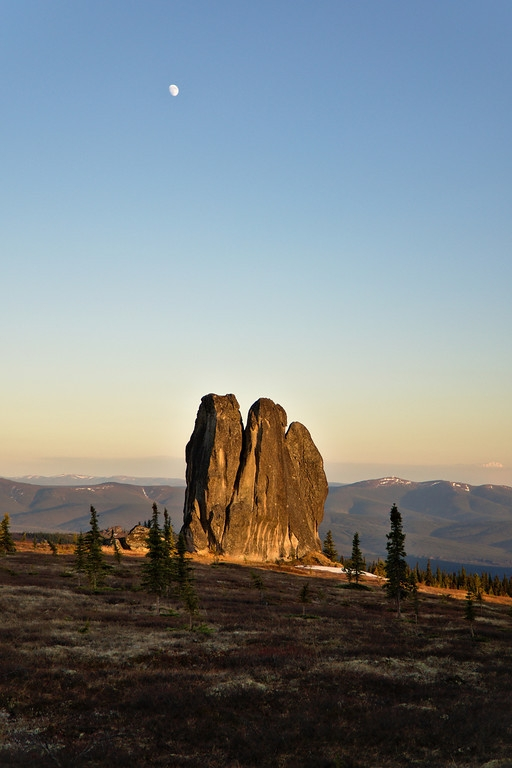 moon hangs Asgard Tor, granite  - lwpetersen   ello