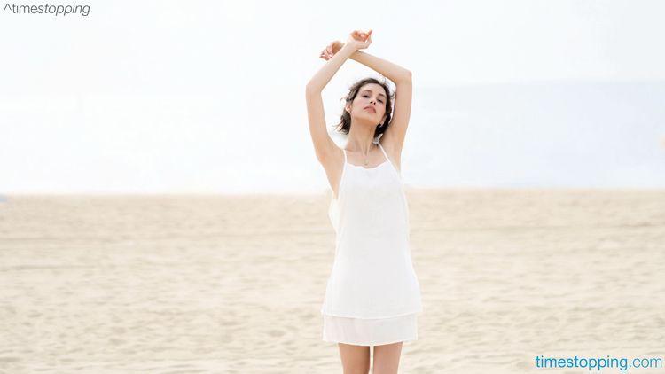 Jessica White Beach Dress visit - timestopping | ello