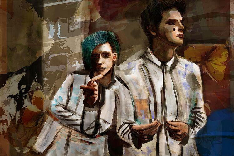 time - digital, art, painting, portrait - andaelentari | ello