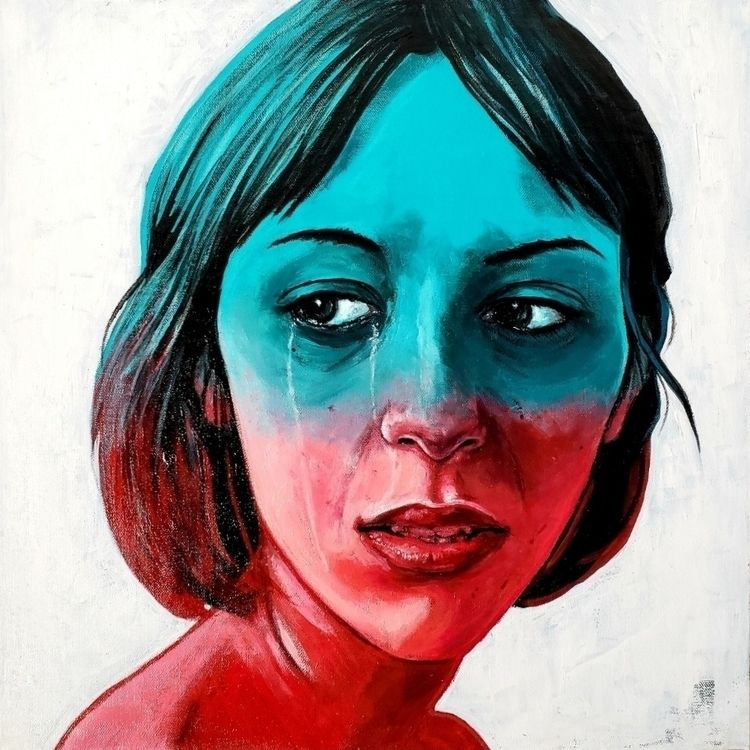 Kara, 2018, acrylic canvas - weshouldbestrangers | ello