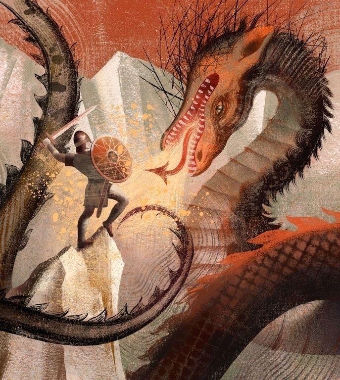 Anna Elena Balbusso - Beowulf - illustration - m-h-l-curates | ello