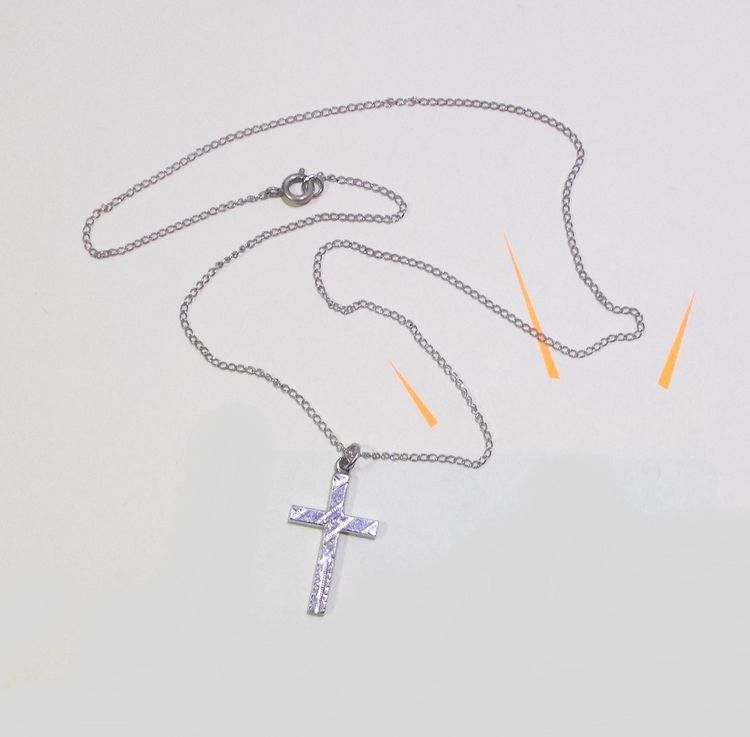 Sterling Silver Etched Cross 15 - theresa-marchione | ello