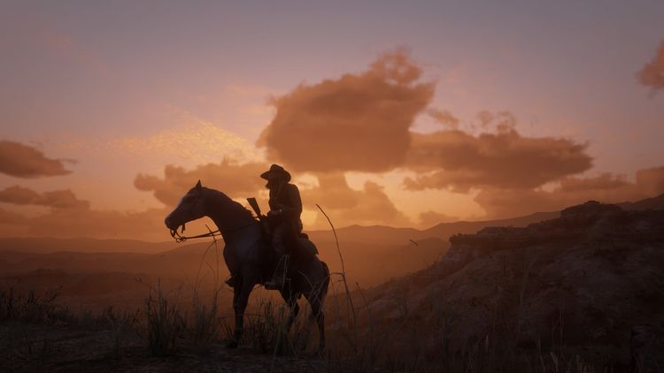 Arthur Morgan rides desert land - cirroccojones | ello