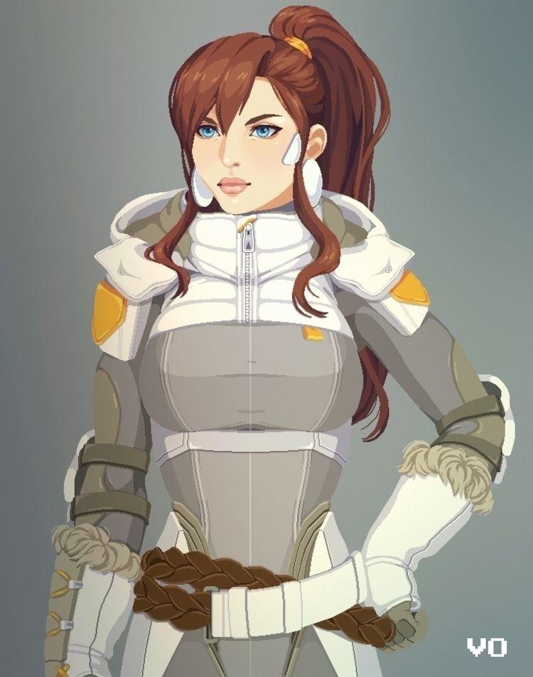 Pixel Practice. Character bust  - 0gachan | ello