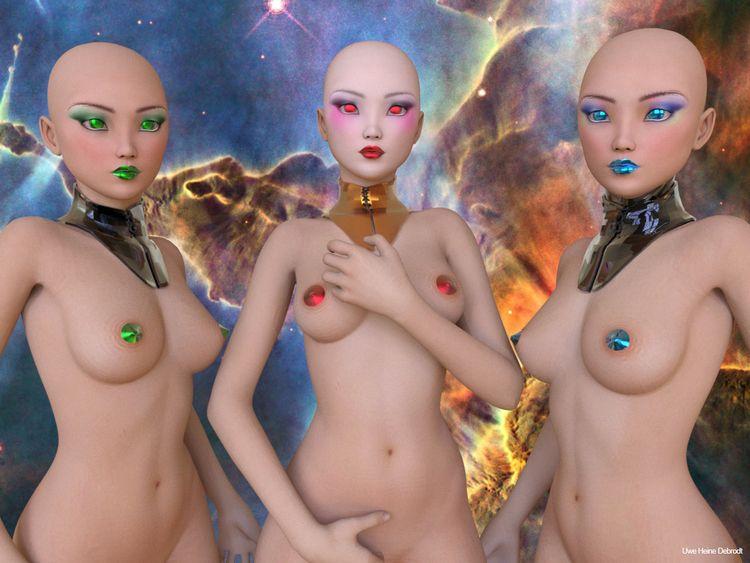 Galactic Girls Uwe Heine Debrod - uweheine | ello