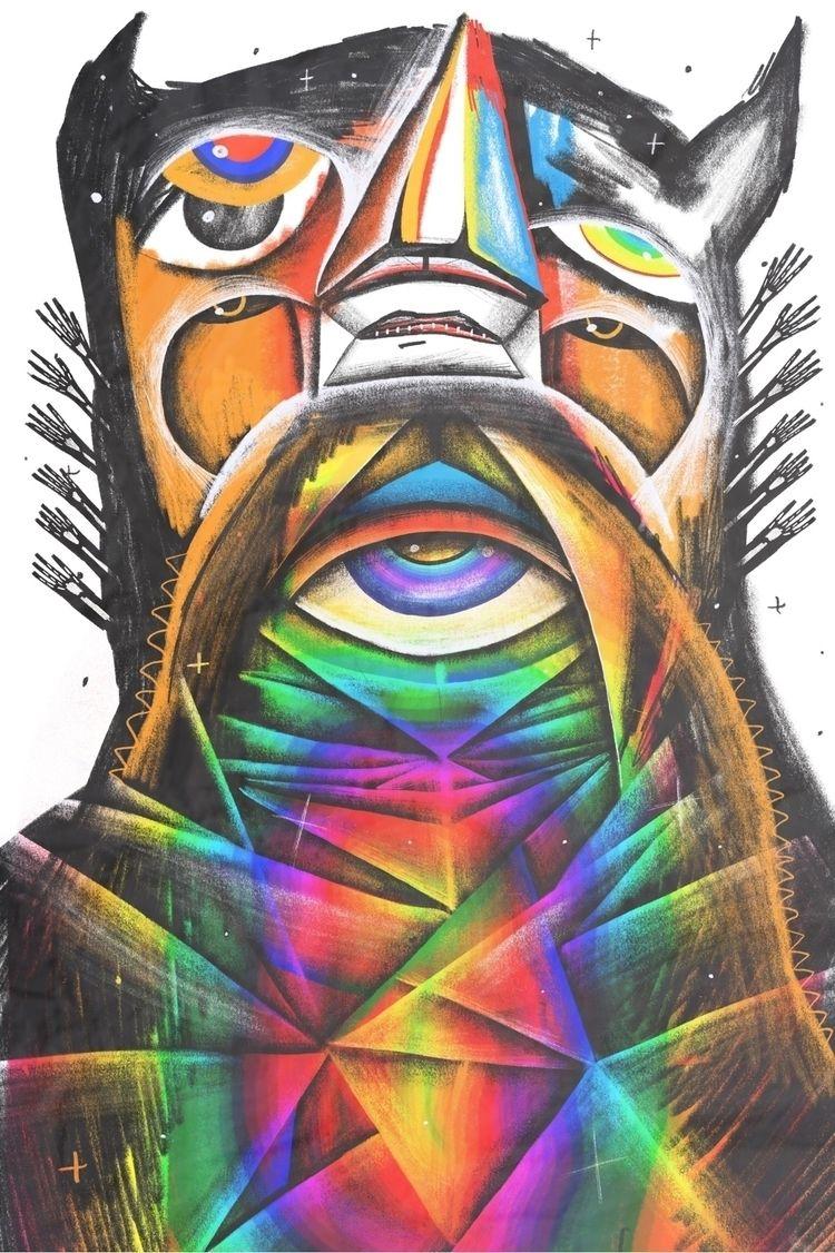 Sasquatch psychic - illustration - trentbar | ello