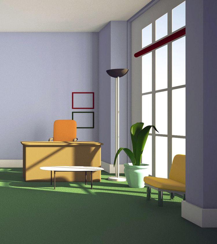 desk - illustration, 3d, background - laurencejmoss | ello