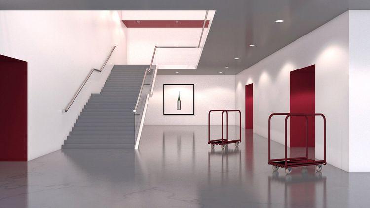 foyer - illustration, 3d, background - laurencejmoss | ello