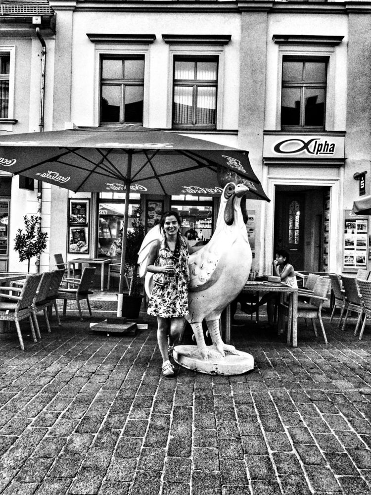 Giant Chicken, Potsdam, Germany - renspacemadness | ello