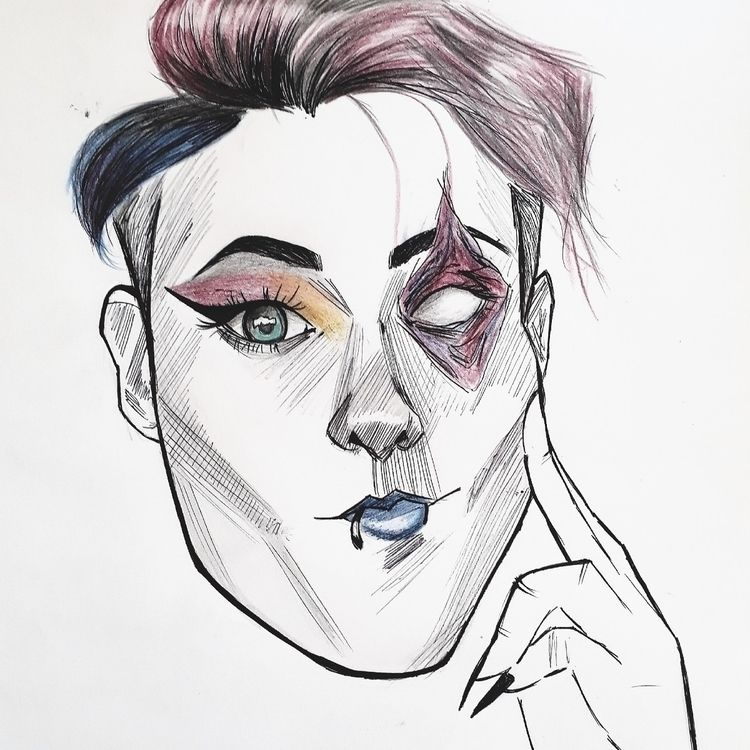 drag - drawing, art, dragqueen, queer - tomagochi | ello