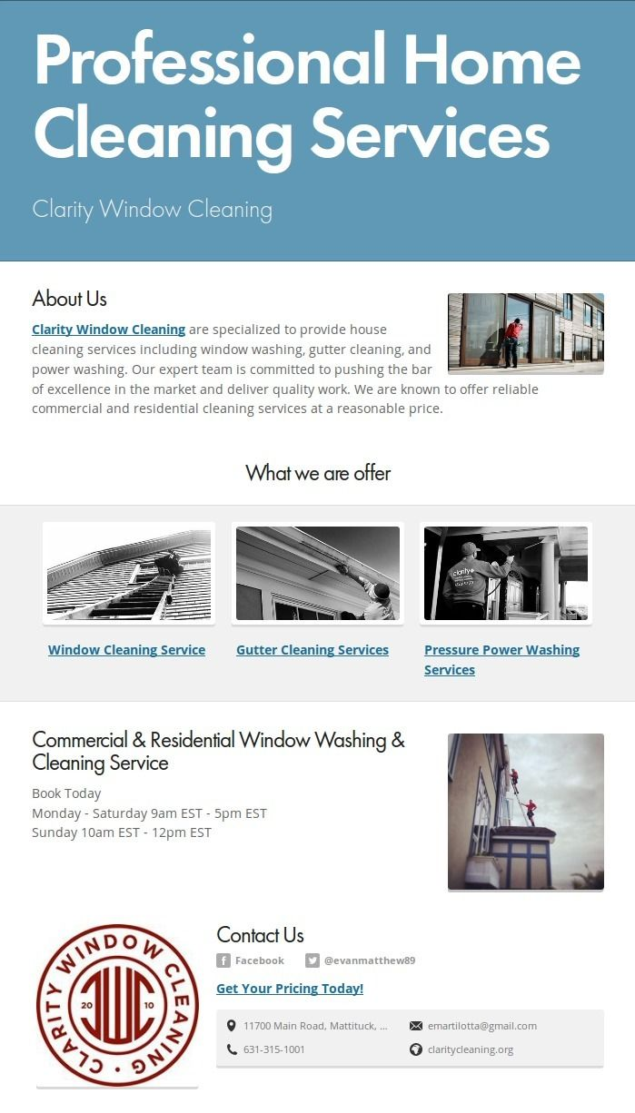 fix dirt cleansing issues, Resi - claritywindowcleaning | ello