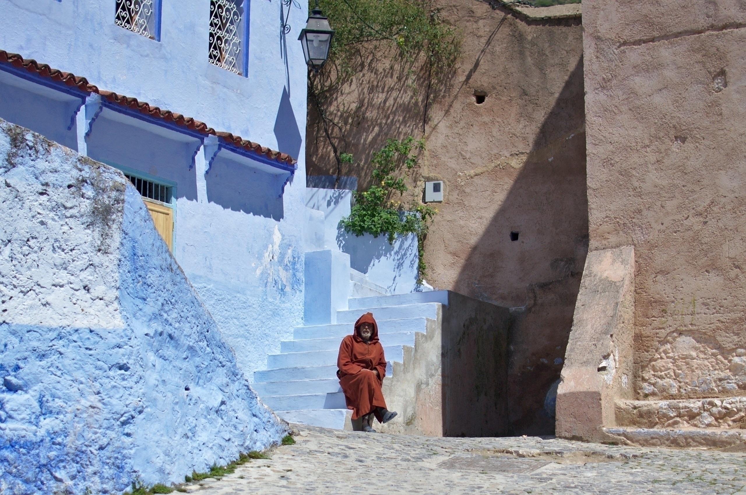 Monk, Morocco (2015 - bluecity, chefchaouen - janekpaul | ello