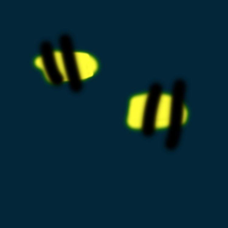Bees (2018 - art, illustration, minimalism - jkalamarz | ello