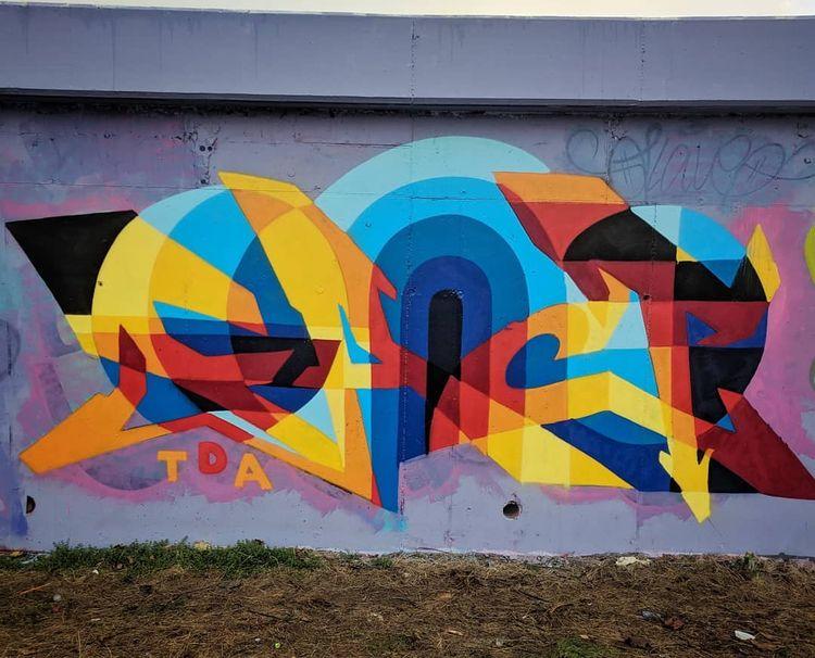 Graffiti piece painted Scotland - shaneomalleyart | ello