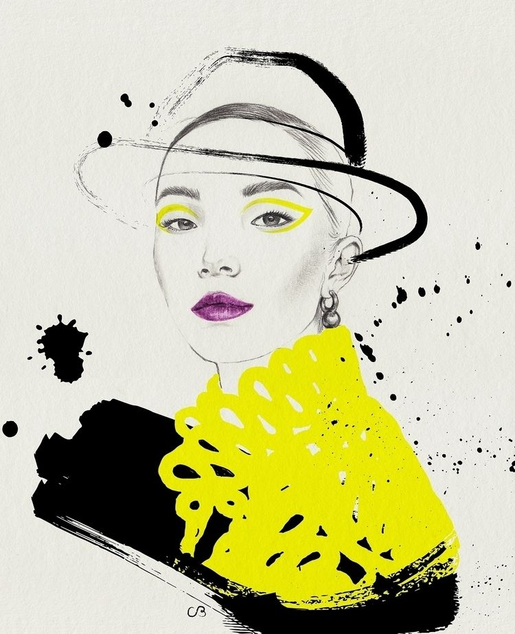 Yellow + Black (9/9 - fashionillustration - chuchubriquet | ello