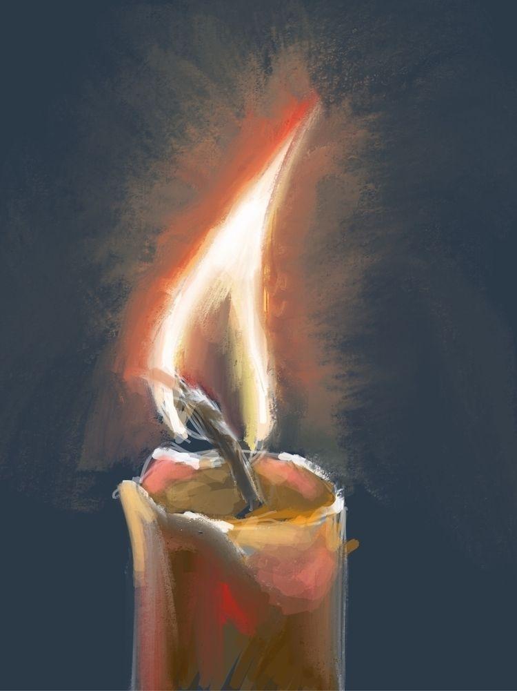 Candle light - dailysketch, paintingaday - iivo | ello