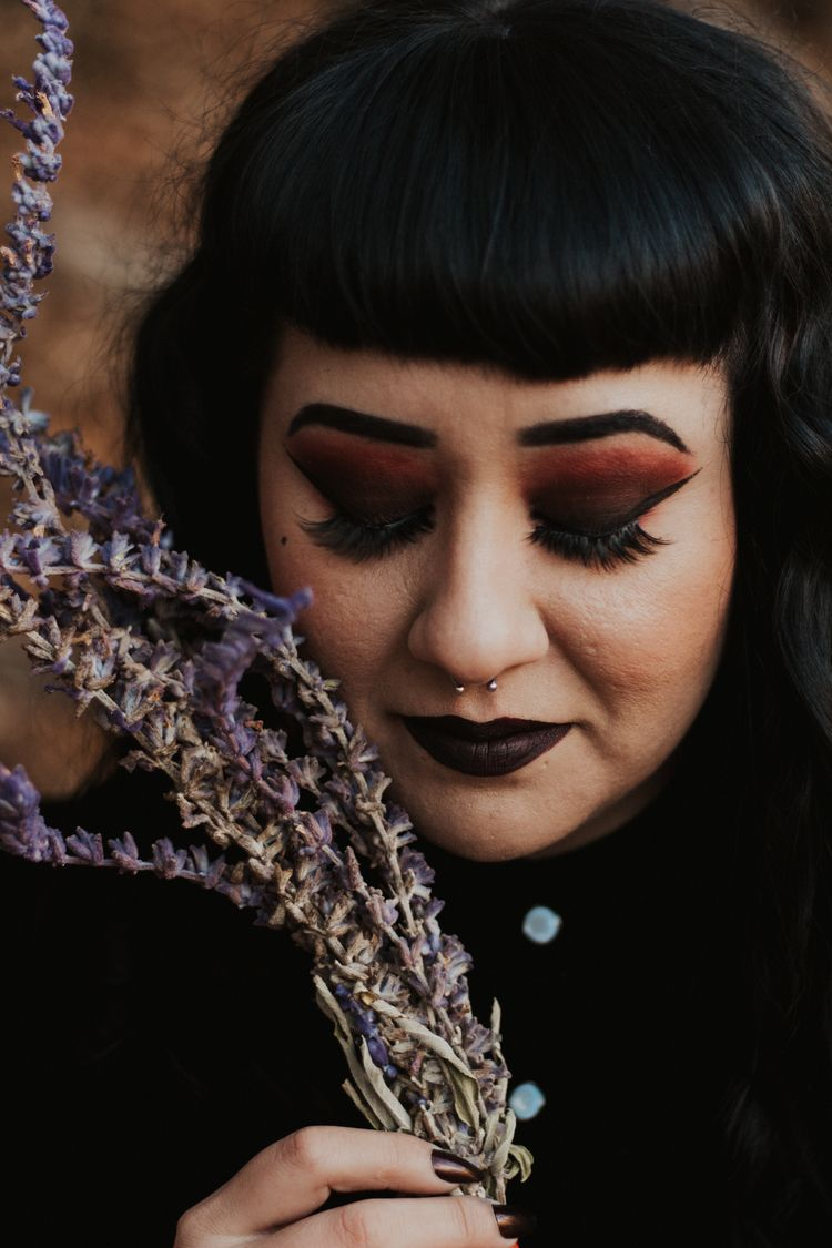 Witch - witch, lavender, portrait - thepieholephotography | ello