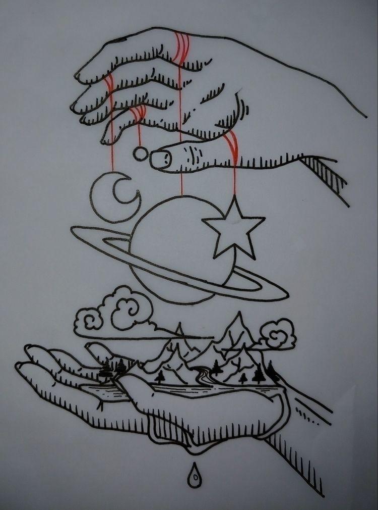 hands, space, earth, elemental - rieru | ello