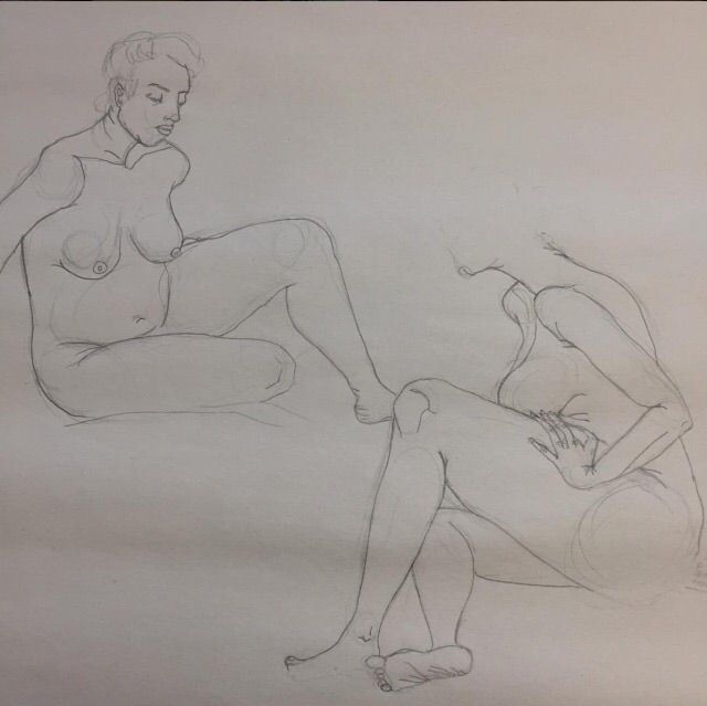 Reclining women - lifedrawing, figuredrawing - nicosantamorena | ello