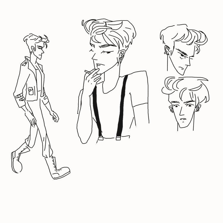 characterdesigns, illustration - pastelblurr | ello