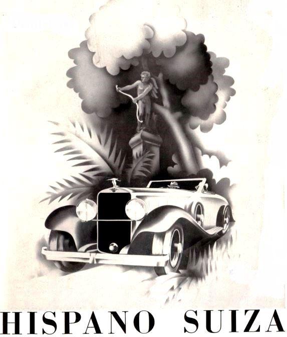 Hispano-Suiza (1934 - cars, illustration - coolvintagecars | ello