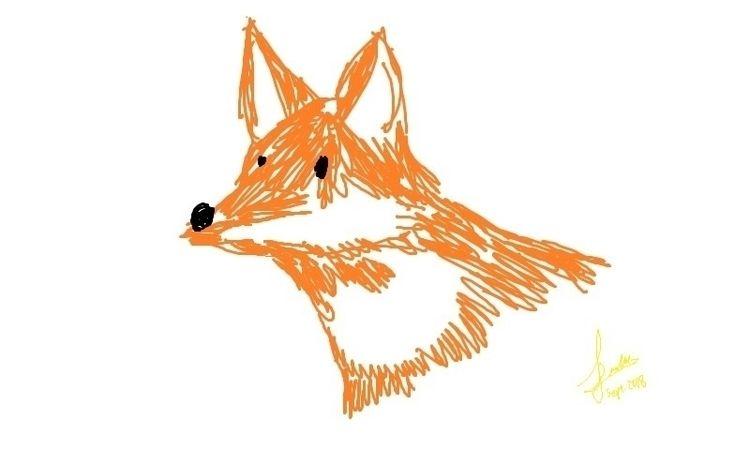[fz_drawing] fox doodled earlie - ferdiz | ello