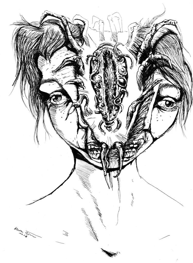 Birth - art, darkart, funart, parasites - nikita_r | ello