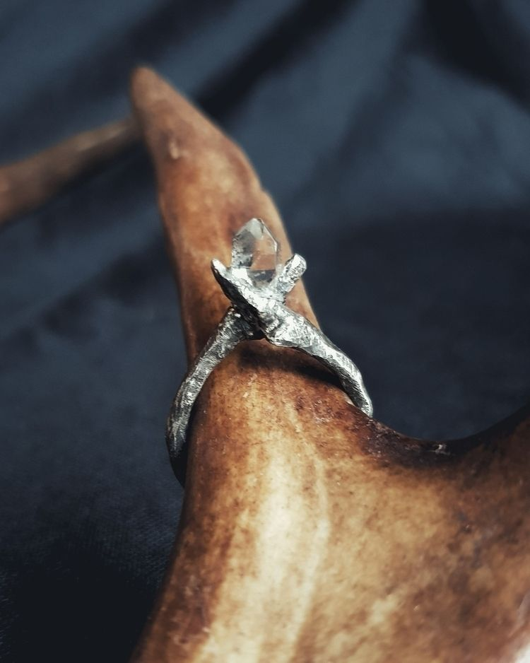Sterling silver twig ring Herki - grave_hag | ello