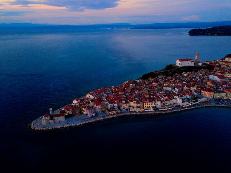 Piran, Slovenia air - drone, adventure - jhollaholla | ello