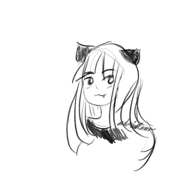 sketch Akane, style - queenalpaca | ello