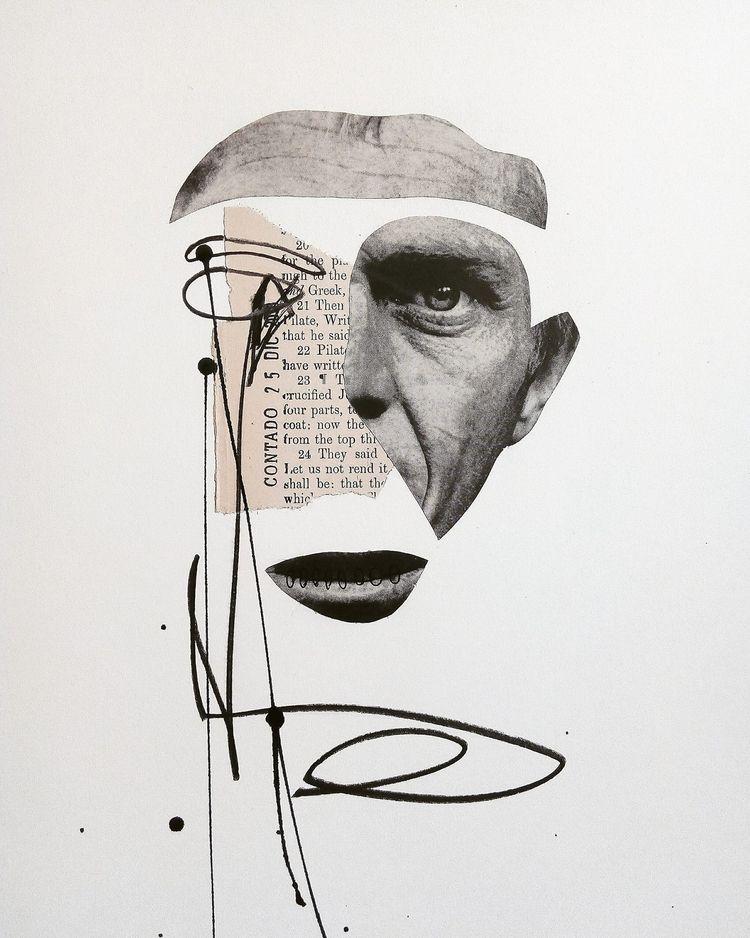 portrait, face, ink, charcoal - sanchezisdead | ello