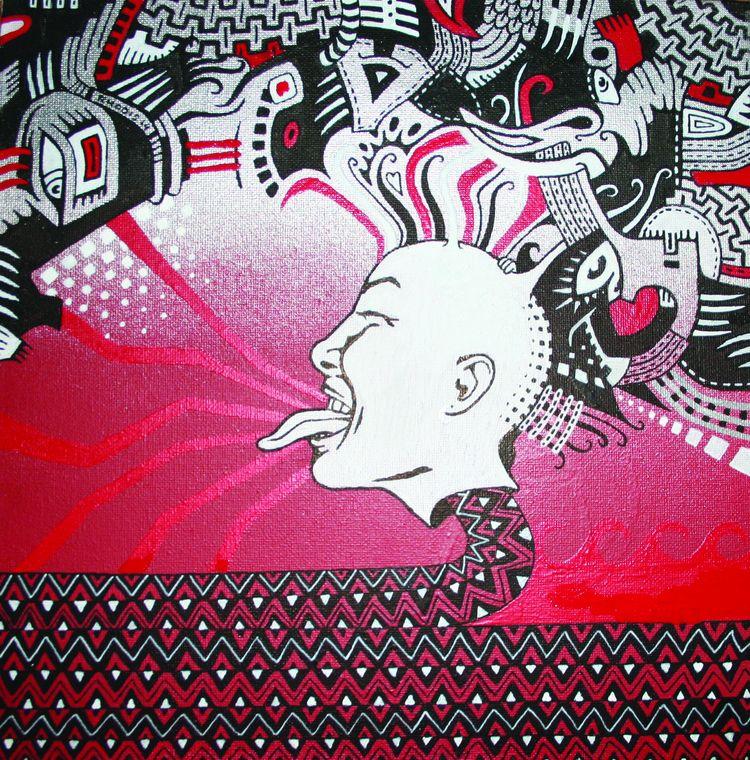 spraypaint, markers, punk, ink - rhodis | ello