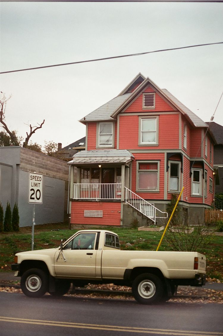 Portland Red - red, 35mm, film, truck - kirschhhh   ello