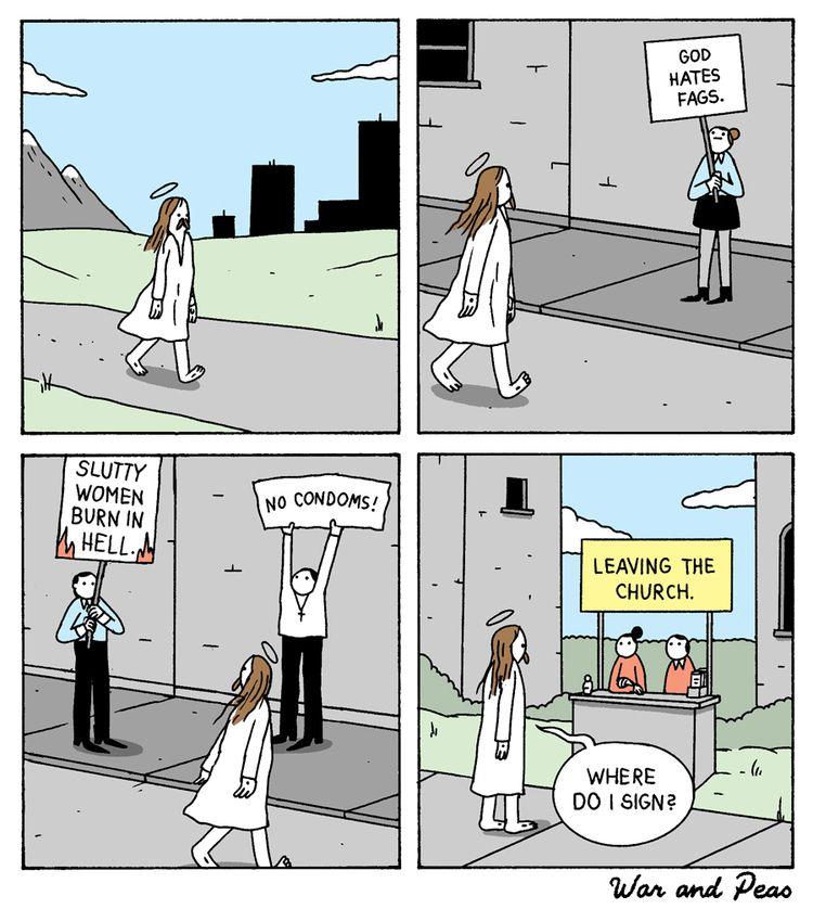 WWJD - comic, warandpeas, wwjd, jesus - warandpeas | ello