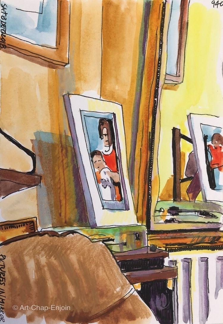 940 - Pictures mirror Lavenham  - artchapenjoin | ello