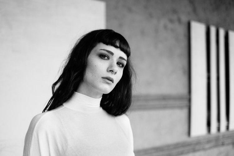 Hanna - woman, portrait, blackandwhite - jensfrankephotography | ello
