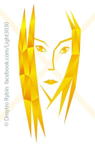 Stylish portrait woman polygona - dmytroua | ello