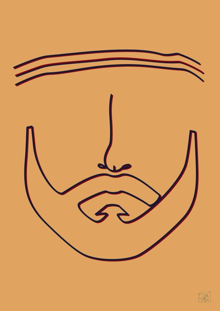 Richie Tenenbaum - line, portrait - ilaviu | ello