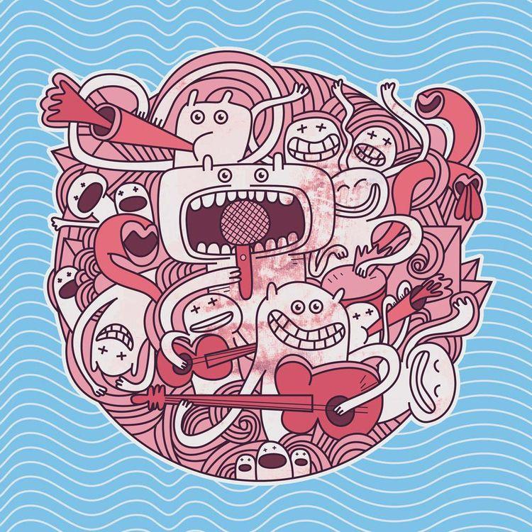 illustration music track. Pleas - babakesmaeli | ello