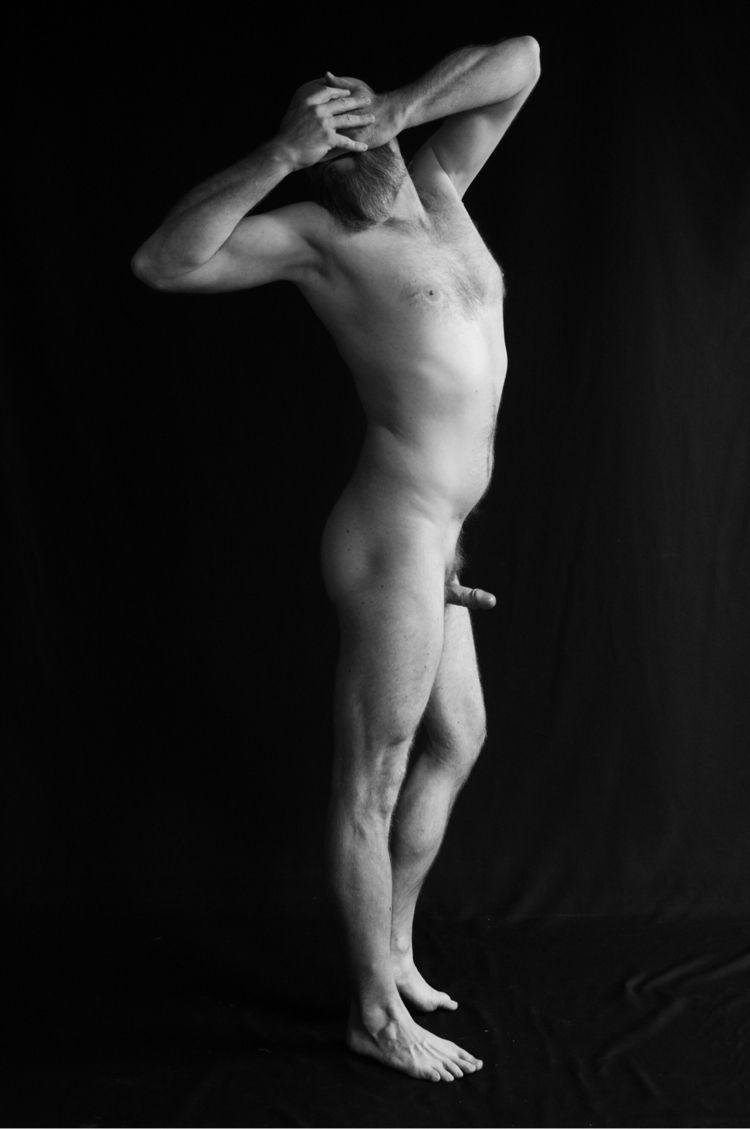 selfportrait, artnude, malenude - crabar | ello