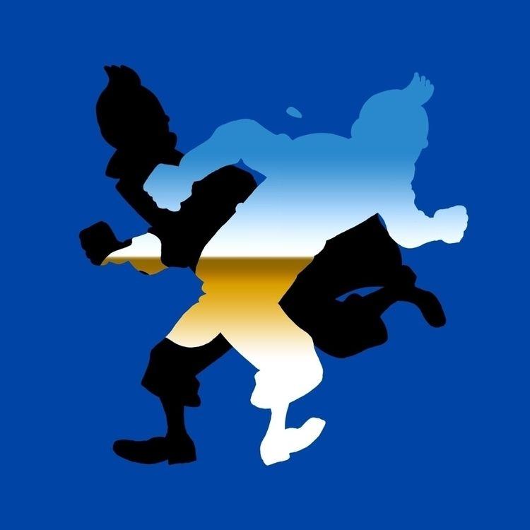 Ello drawing Tintin Bye - 5imon | ello
