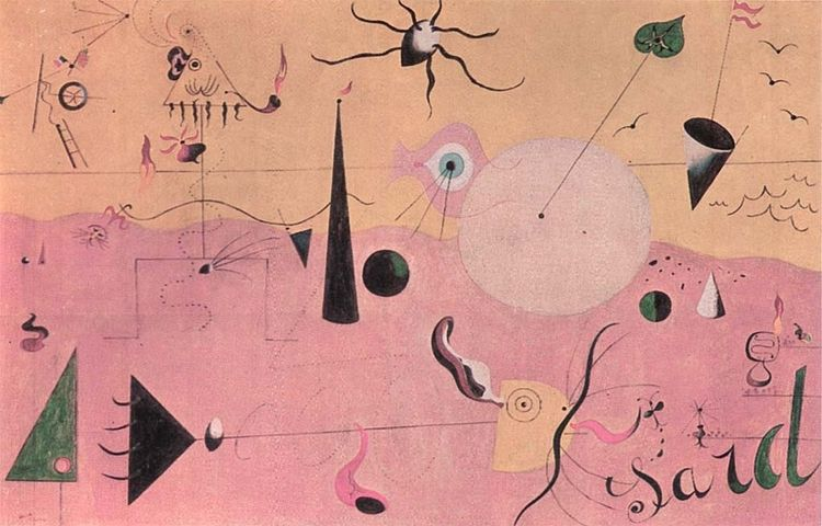 Hunter, Joan Miro, 1924 - rose, rosa - fuga2 | ello